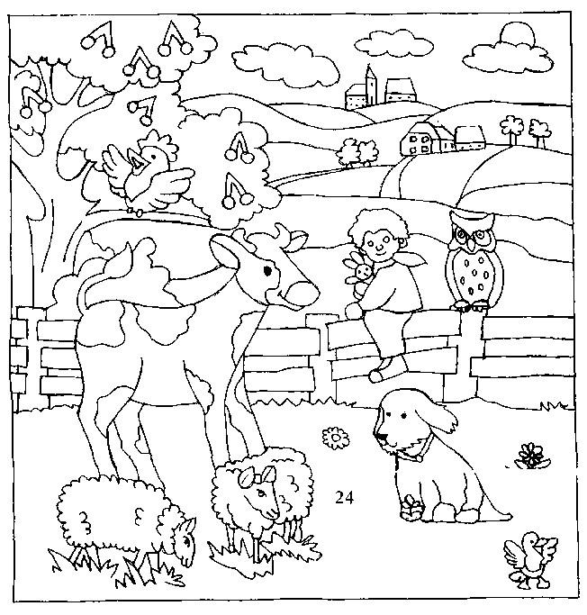 Coloriage animaux de campagne dessin gratuit imprimer - Coloriage campagne ...
