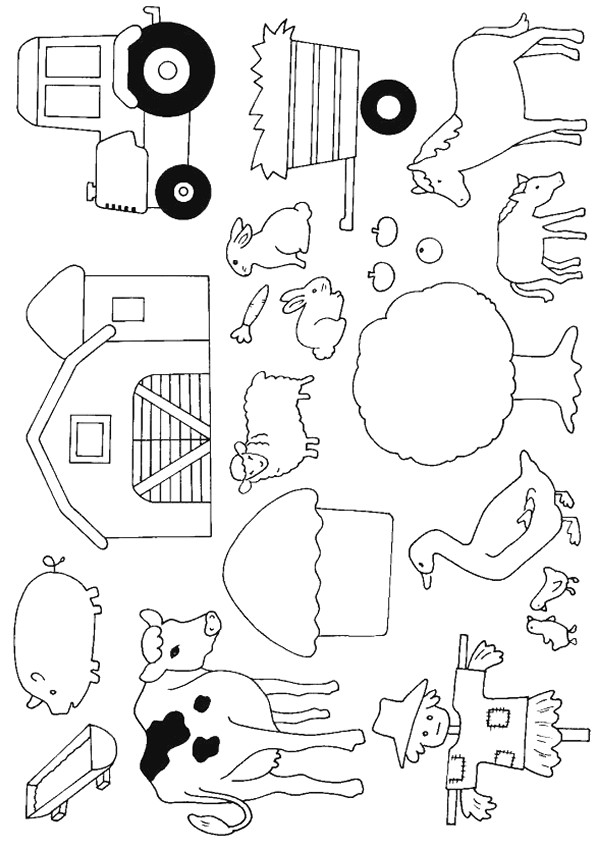 Coloriage Animaux de Ferme dessin gratuit à imprimer