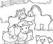 Coloriage dessin  Animaux de Ferme 15