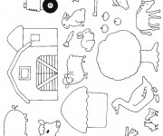 Coloriage dessin  Animaux de Ferme 5