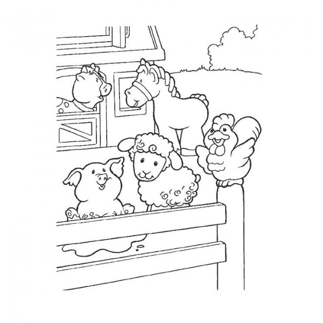 Coloriage Animaux De Ferme En Ligne Dessin Gratuit A Imprimer