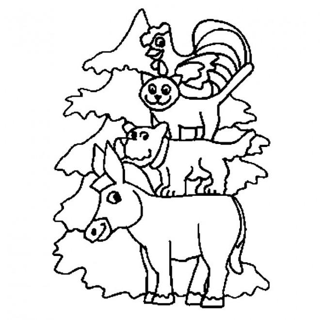 Coloriage et dessins gratuits Animaux de Ferme humoristique à imprimer
