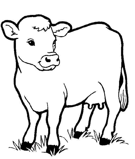 Coloriage et dessins gratuits Vache de Ferme vectoriel à imprimer