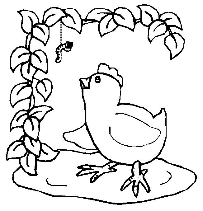 Coloriage et dessins gratuits Animaux de Ferme stylisé en noir à imprimer