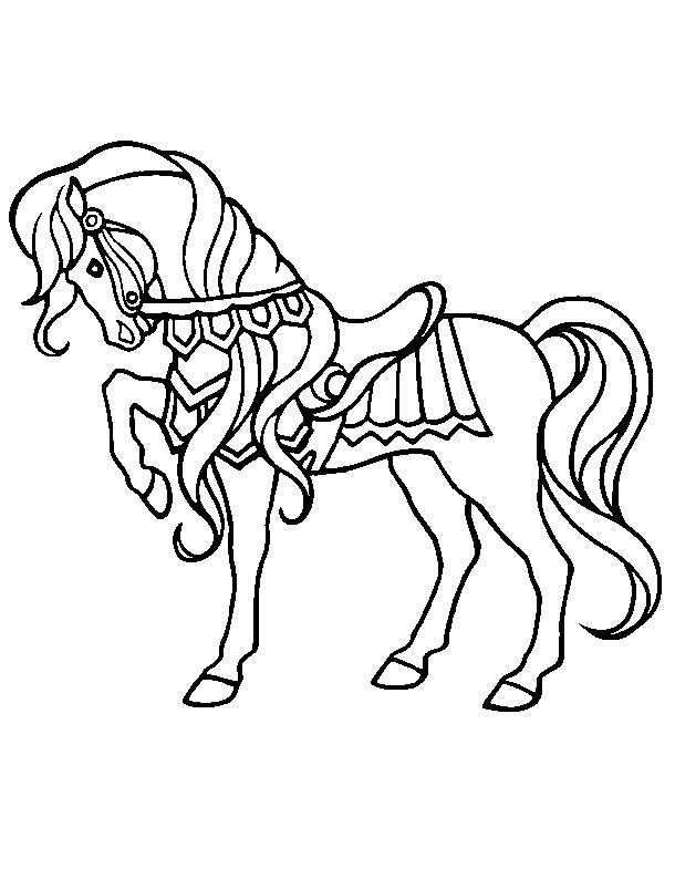 Coloriage Cheval mignon à décorer dessin gratuit à imprimer