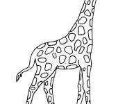Coloriage et dessins gratuit Girafe en plein air à imprimer