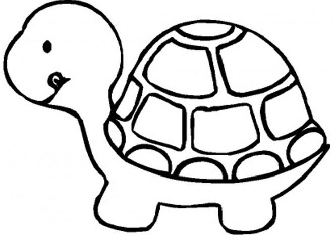 Coloriage et dessins gratuits La Tortue très lente à imprimer
