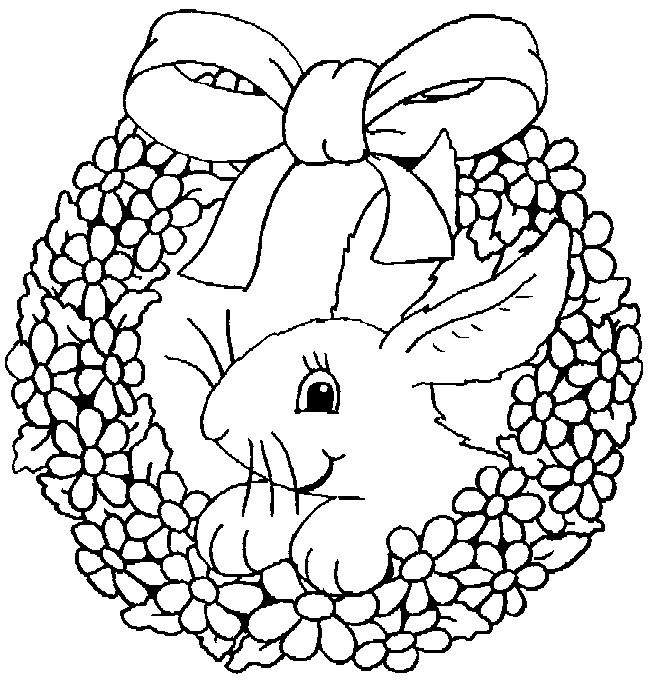 Coloriage lapin et cadeau de fleurs dessin gratuit imprimer - Animaux a colorier et a imprimer gratuit ...