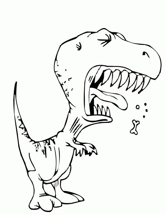 Coloriage le dinosaure dr le dessin gratuit imprimer - Coloriage en ligne animaux ...