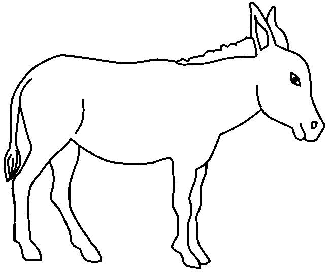 Coloriage un ne facile dessin gratuit imprimer - Coloriage en ligne animaux ...