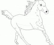 Coloriage et dessins gratuit Un Cheval stylisé à imprimer