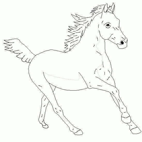 Coloriage et dessins gratuits Un Cheval stylisé à imprimer