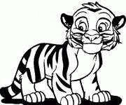 Coloriage et dessins gratuit Un petit Tigre souriant à imprimer