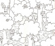 Coloriage dessin  Animaux Foret 1
