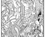 Coloriage dessin  Animaux Foret 11