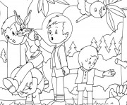 Coloriage dessin  Animaux Foret 7