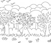 Coloriage dessin  Animaux Foret 8
