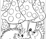 Coloriage dessin  Animaux Foret 9