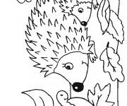 Coloriage et dessins gratuit Hérisson  maternelle à imprimer