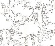 Coloriage et dessins gratuit La Forêt maternelle à imprimer