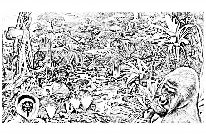 Coloriage et dessins gratuits La Forêt réaliste à imprimer