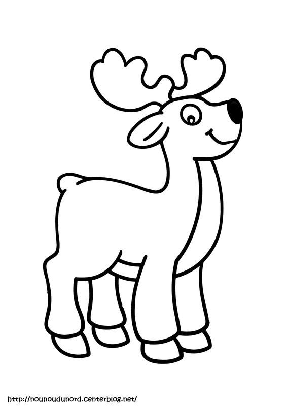 Coloriage et dessins gratuits Le Cerf Animal de la  Forêt à imprimer