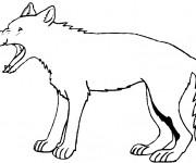 Coloriage et dessins gratuit Un Loup facile à imprimer