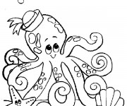 Coloriage dessin  Animaux Marins 4
