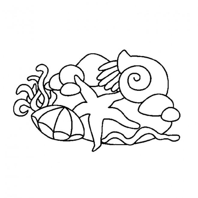 Coloriage et dessins gratuits Animaux Marins simples à imprimer