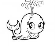 Coloriage et dessins gratuit Baleine mignon à imprimer