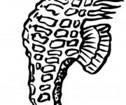 Coloriage Cheval de Mer vecteur