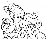 Coloriage Octopus  marin pour enfant