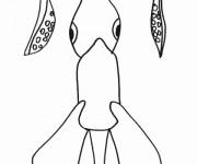 Coloriage Poulpe de Mer simple