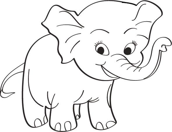 Coloriage Bebe Elephant.Coloriage Bebe Elephant Mignon