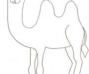 Coloriage dessin  Chameau 53