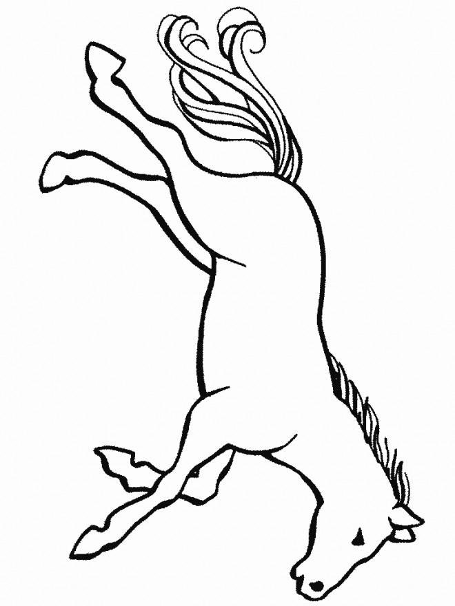 Coloriage et dessins gratuits Cheval fantastique à découper à imprimer