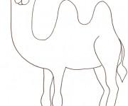 Coloriage et dessins gratuit Dromadaire au crayon à imprimer