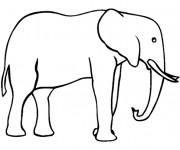 Coloriage et dessins gratuit Éléphant d'afrique facile à imprimer