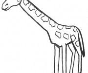 Coloriage dessin  Girafe 15