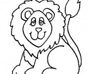 Coloriage Lion pas assez actif