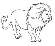 Coloriage et dessins gratuit Lion Roi de La forêt à imprimer