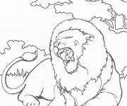 Coloriage Un Lion adulte