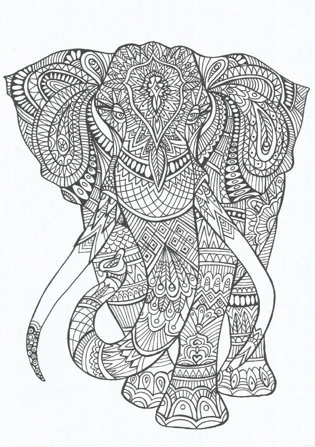 Coloriage anti stress l phant mandala - Dessins anti stress ...