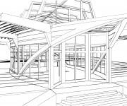 Coloriage dessin  Architecture 1