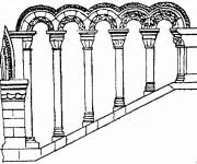 Coloriage dessin  Architecture 18