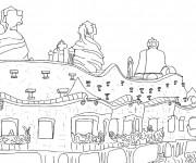 Coloriage dessin  Architecture 4