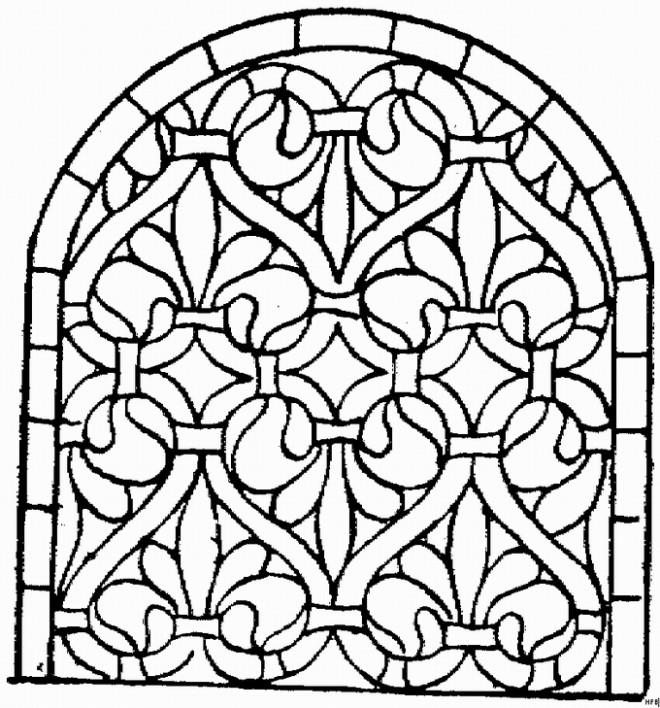 Coloriage et dessins gratuits Architecture Catholique à imprimer