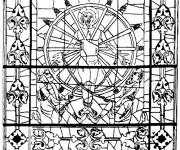 Coloriage et dessins gratuit Architecture Chrétienne à imprimer