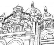 Coloriage Architecture d'église
