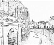 Coloriage Architecture de Coliseum